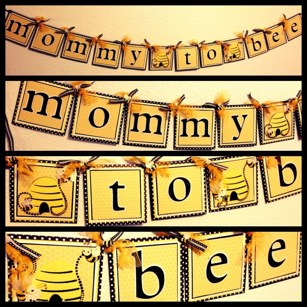 """Mommy to Bee"" Banner"
