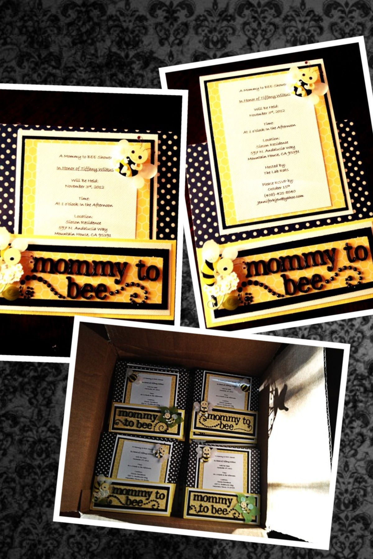 """Mommy to Bee"" Invitation"
