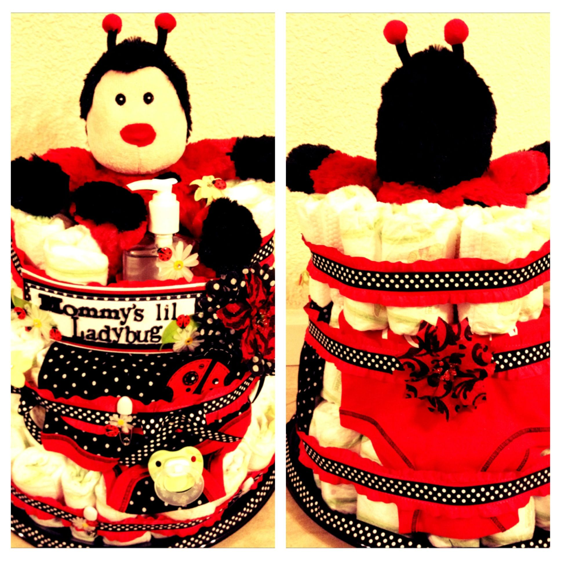 Mommy's lil Ladybug Diaper Cake